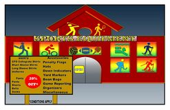 Beautiful Illustration of a sports equipment store. vector illustration