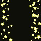 Stars illustration on black background Royalty Free Stock Images