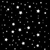 Stars illustration on black background Royalty Free Stock Photo
