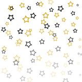 Stars illustration on white background Royalty Free Stock Photography