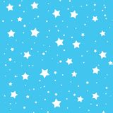Beautiful illustration of stars on sky blue background. Stock Photos