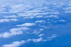 Beautiful image above the white clouds. Blue sky and white clouds taken from aeroplane. Nature sky background concept. Beautiful image above the white clouds stock images