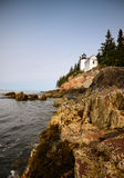 Beautiful image of the bass harbor lighthouse in maine Royalty Free Stock Images