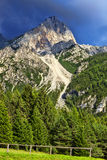 Peak in Dolomites Mountains Stock Images