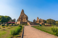 Beautiful image of Kandariya Mahadeva temple, Khajuraho, Madhyapradesh, India Royalty Free Stock Photos