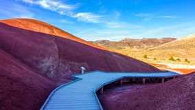 Beautiful Image of Painted Hills National Monument in Oregon, USA.  royalty free stock photos