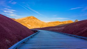 Beautiful Image of Painted Hills National Monument in Oregon, USA.  royalty free stock images