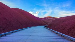 Beautiful Image of Painted Hills National Monument in Oregon, USA.  stock images