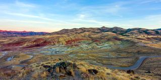 Beautiful Image of Painted Hills National Monument in Oregon, USA.  royalty free stock photo