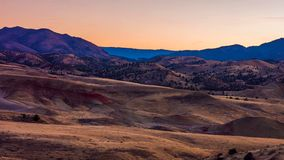Beautiful Image of Painted Hills National Monument in Oregon, USA.  stock photography