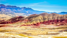 Beautiful Image of Painted Hills National Monument in Oregon, USA.  stock photo