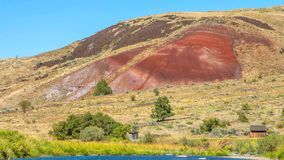 Beautiful Image of Painted Hills National Monument in Oregon, USA.  royalty free stock photography