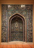 Beautiful image of religious prayer niche, Cleveland Art Museum, Ohio, 2016. Stunning detail in vertical image of religious prayer niche, Cleveland Art Museum Royalty Free Stock Image