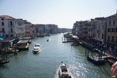 A beautiful image from the Riallto Bridge in Venice stock photo