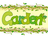 Beautiful image of the word garden Royalty Free Stock Photography
