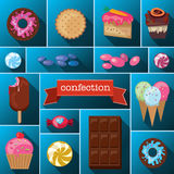 Beautiful images of a variety of sweets. Stock Image