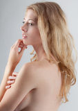 Beautiful Implied Topless Woman Royalty Free Stock Photos