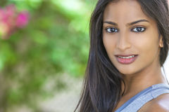 Beautiful Indian Asian Young Woman Girl Stock Images