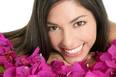 Beautiful indian and bougainvillea flowers Royalty Free Stock Photo