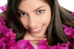 Beautiful indian and boungainvillea flowers Royalty Free Stock Photo