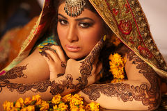 Beautiful indian bride Royalty Free Stock Image