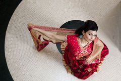 Beautiful Indian bride. Wearing tradional wedding dress Royalty Free Stock Image