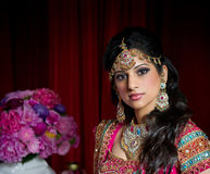 Beautiful Indian Bride. Image of a beautiful Indian bride traditionally dressed Stock Photo
