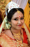 A beautiful indian bride. Ready to her marriage ceremony Royalty Free Stock Photography