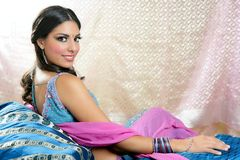 Beautiful indian brunette woman portrait Royalty Free Stock Images