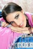 Beautiful indian brunette woman portrait Stock Images