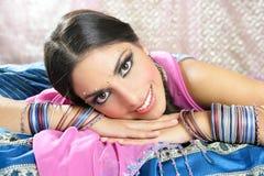 Beautiful indian brunette woman portrait Royalty Free Stock Image