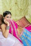 Beautiful indian brunette woman portrait Stock Photo