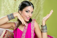 Beautiful indian brunette woman portrait Royalty Free Stock Photo