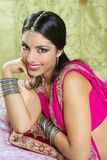 Beautiful indian brunette woman portrait Stock Images