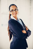 Beautiful Indian business woman portrait smiling happy Royalty Free Stock Image