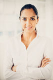 Beautiful Indian business woman portrait smiling happy Royalty Free Stock Photo