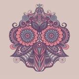 Beautiful Indian ethnic floral ornament. Mandala. Henna tattoo style. Stock Photography