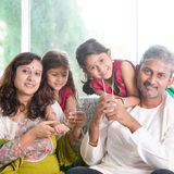 Beautiful Indian family Royalty Free Stock Photography