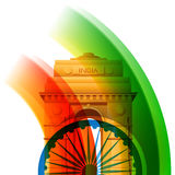 Beautiful indian flag design Royalty Free Stock Photography