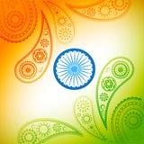 Beautiful indian flag design. Beautiful stylish indian flag vector background Royalty Free Illustration