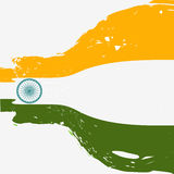 Beautiful indian flag design Royalty Free Stock Photos