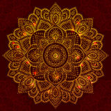 Beautiful Indian floral mandala ornament Royalty Free Stock Photos