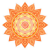 Beautiful Indian floral mandala ornament Royalty Free Stock Photo