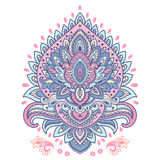 Beautiful Indian floral mandala ornament Royalty Free Stock Images
