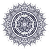 Beautiful Indian floral mandala ornament Royalty Free Stock Photography
