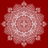 Beautiful Indian floral mandala ornament Royalty Free Stock Photography