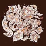 Beautiful Indian floral mandala ornament Stock Photography