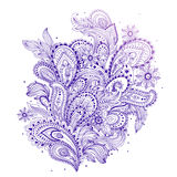 Beautiful Indian floral mandala ornament Royalty Free Stock Image