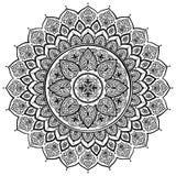 Beautiful Indian floral ornament. Ethnic Mandala. Henna tattoo s Royalty Free Stock Photography