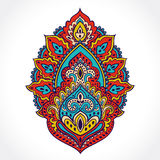 Beautiful Indian floral ornament. Ethnic Mandala. Henna tattoo s Stock Photos